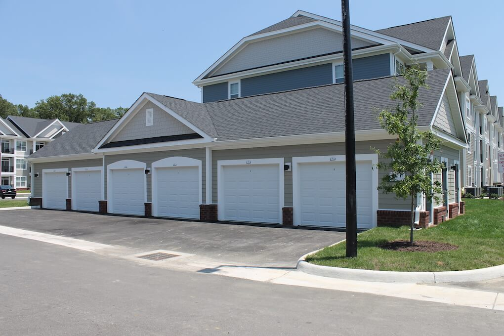 Commonwealth at York resident single car garage spaces.